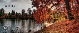 عکس پاییز و دریاچه رادیاتور طرح دار