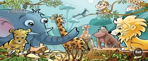 عکس کارتون حیوانات رادیاتور شیشه ای
