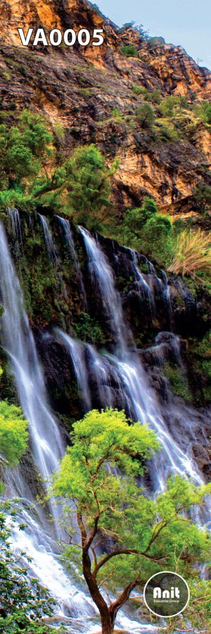 عکس درخت و آبشار رادیاتور شیشه ای
