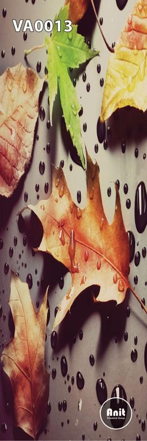 عکس برگ های پاییزی رادیاتور شیشه ای
