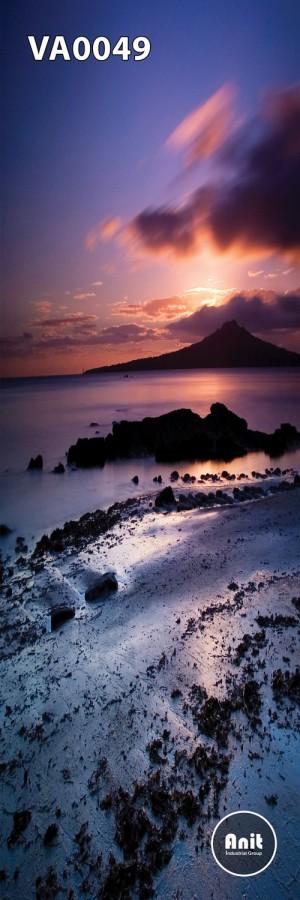 عکس غروب ساحل رادیاتور شیشه ای