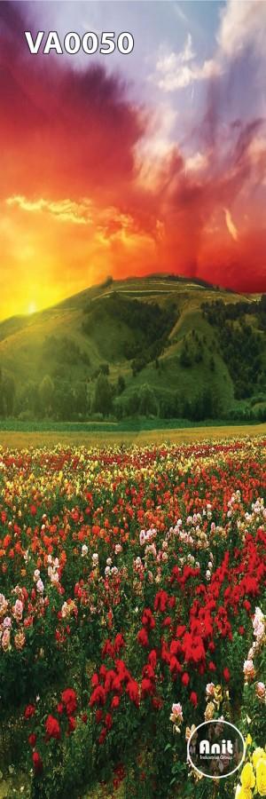 عکس دشت گل رادیاتور شیشه ای