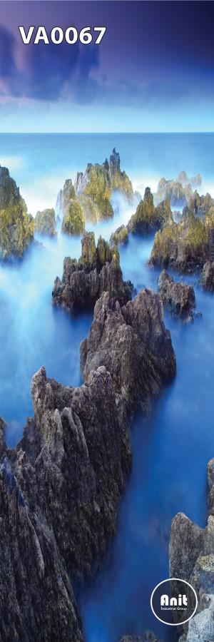 عکس صخره و آسمان رادیاتور شیشه ای