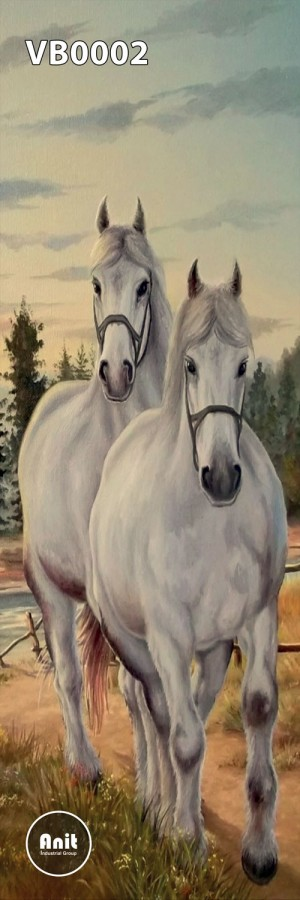 عکس اسب سفید رادیاتور شیشه ای
