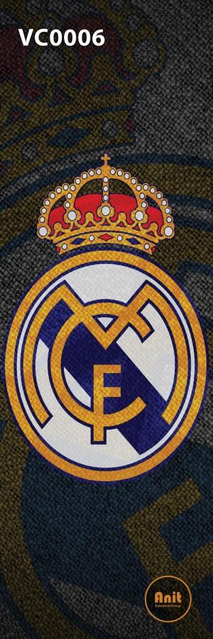 عکس لوگو رئال مادرید رادیاتور شیشه ای