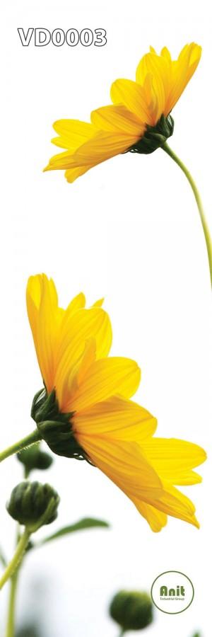 گل زرد رادیاتور طرح دار