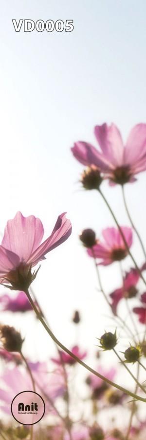 طرح گل صورتی رادیاتور شیشه ای