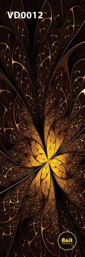 طرح گل رادیاتور شیشه دار