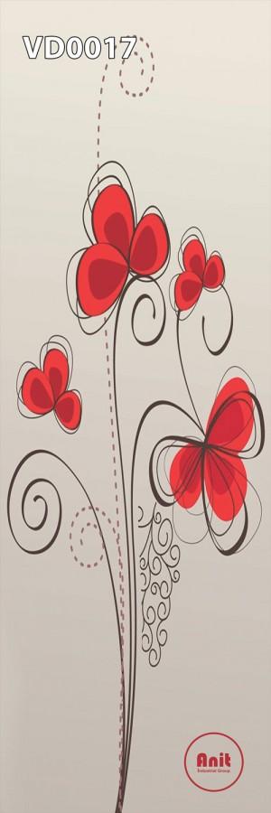 طرح گل فانتزی قرمز رادیاتور عمودی