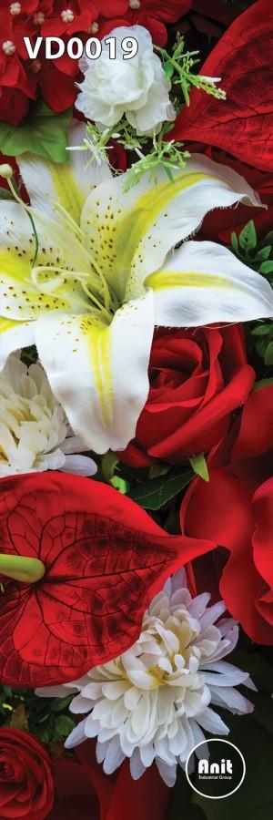 گل سفید و قرمز رادیاتور طرح دار