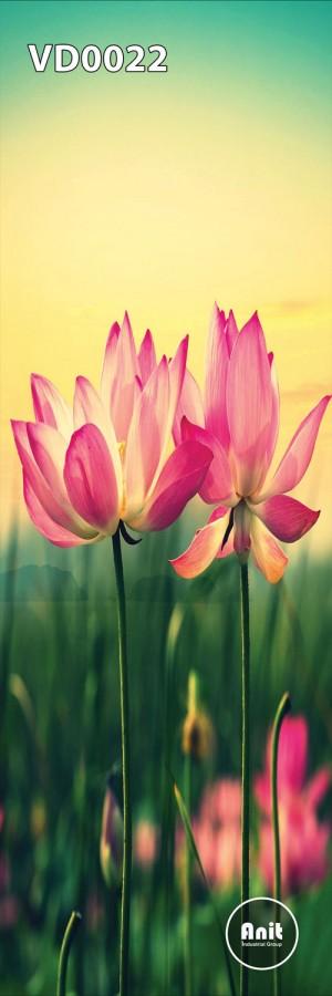 گل نیلوفر صورتی رادیاتور طرح دار