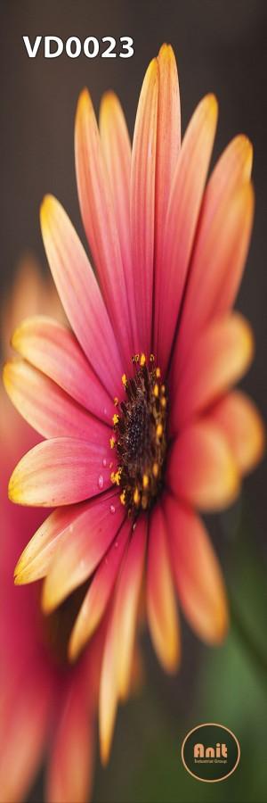 طرح گل نارنجی رادیاتور عمودی