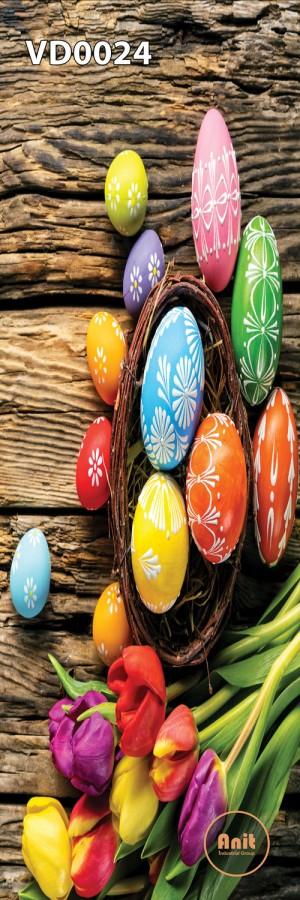 گل لاله و تخم مرغ رنگی رادیاتور طرح دار