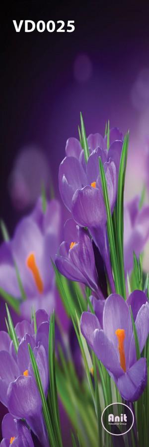 گل بنفش زعفران رادیاتور طرح دار