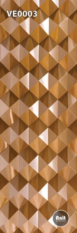طرح شیشه رادیاتور لوزی طلای