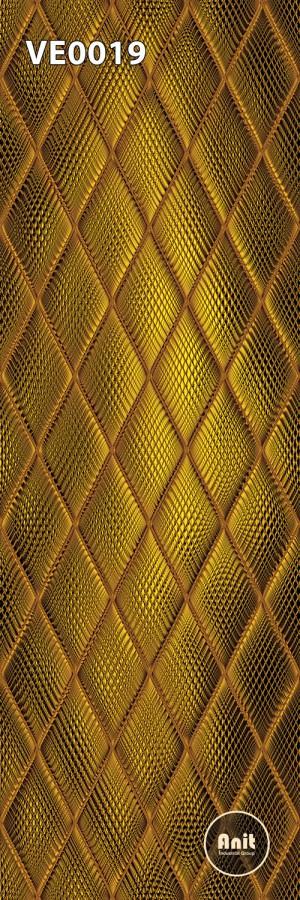 طرح شیشه رادیاتور لوزی طلایی