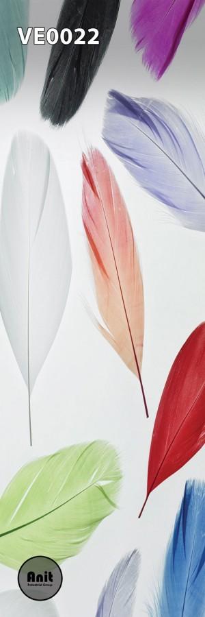 طرح شیشه رادیاتور پرهای رنگی