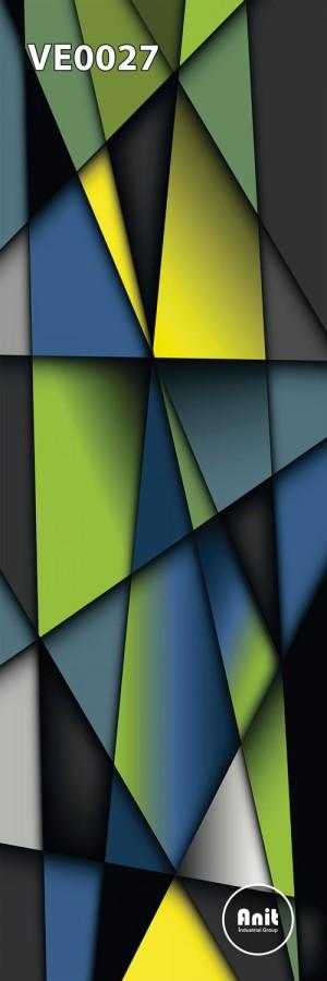 طرح شیشه رادیاتور رنگی