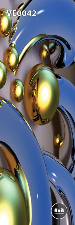 طرح شیشه رادیاتور گوی های نقره ای