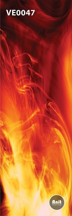 طرح شیشه رادیاتور آتش