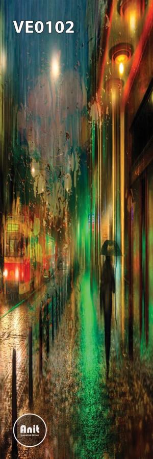طرح شیشه رادیاتور نقاشی خیابان
