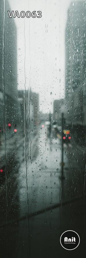 عکس منظره بارانی رادیاتور شیشه ای